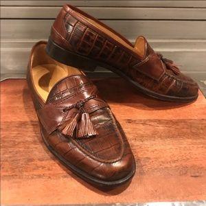 Johnson and Murphy Alligator Tassel Loafers